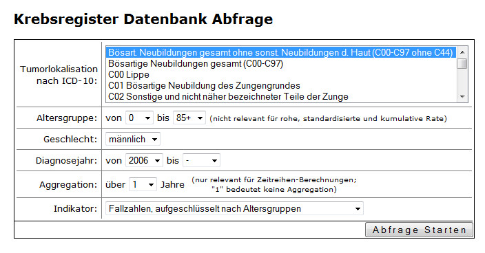 Datenbankabfrage Tool